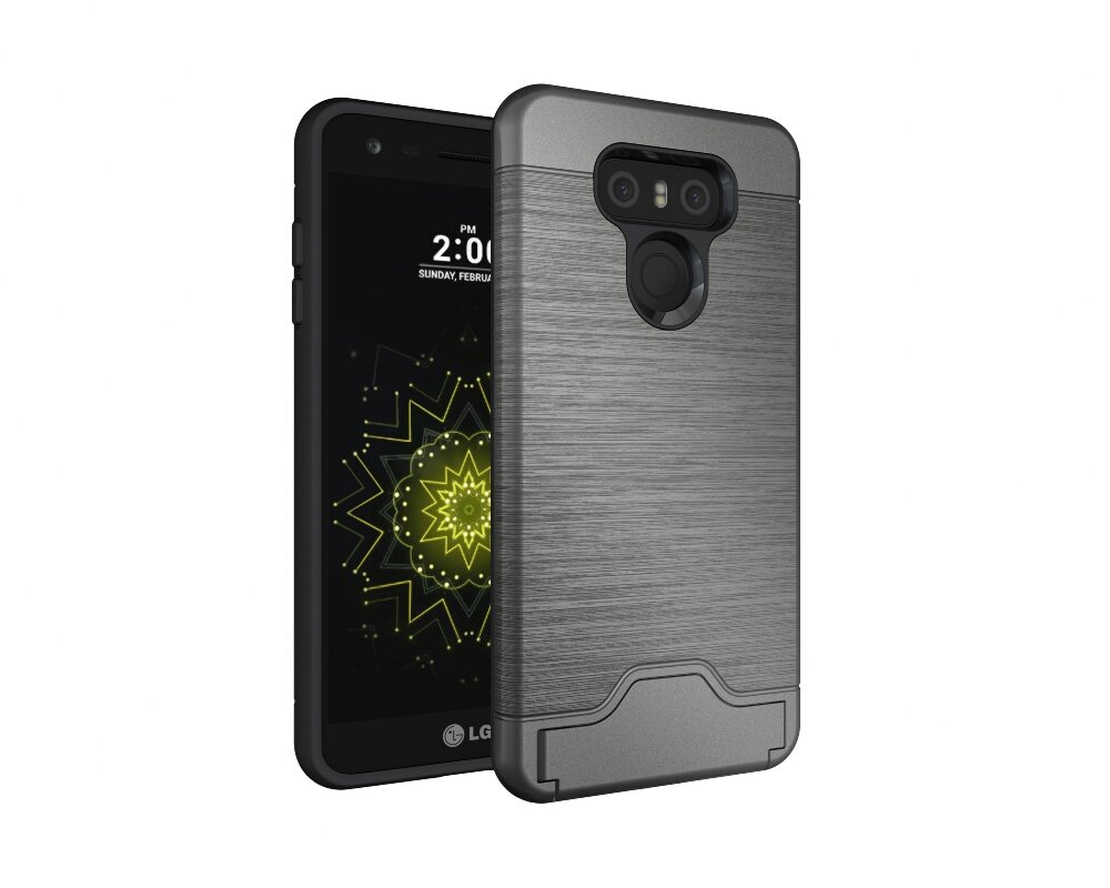 Gris Fonc/é dise/ño 2 en 1 adorehouse Hybrid TPU y PC Bumper Back Cover Anti-Gota Anti-Choques R/ígido Carcasas para LG G6 LG G6 Funda