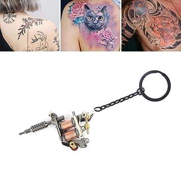 Máquina de tatuaje llavero colgante portátil mini adorno(CX-5 ...