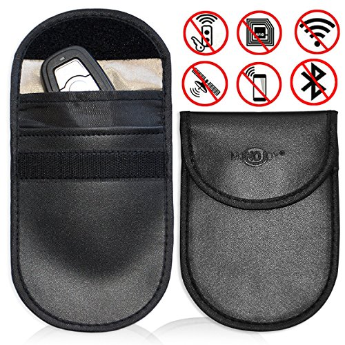 Faraday Cage Shield Car Key Fob Signal Blocking Pouch Bag, Faraday Bag Rfid Key Fob, Fob Guard Keyless Entry Remote Rfid, Antitheft Lock Devices, Car Key Protector WIFI/GSM/LTE/NFC/RF Blocker (2 Pack) -