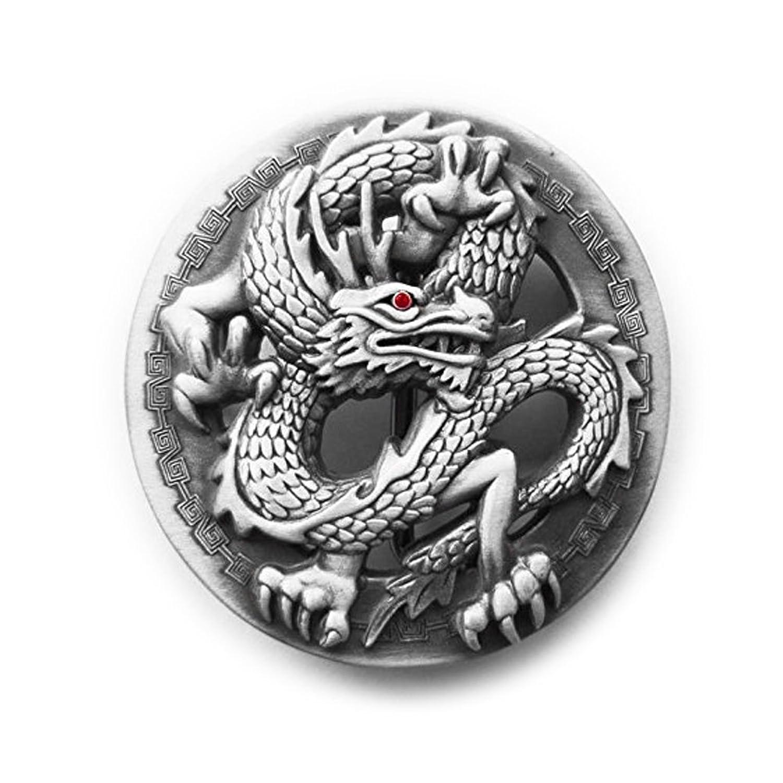 eeddoo® Gürtelschnalle - klassischer Drache - Dragon Buckle (Buckle für Wechselgürtel für Damen und Herren | Belt Frauen Männer Oldschool Rockabilly Metall Gothic Wave Rock Biker Western Trucker Skull
