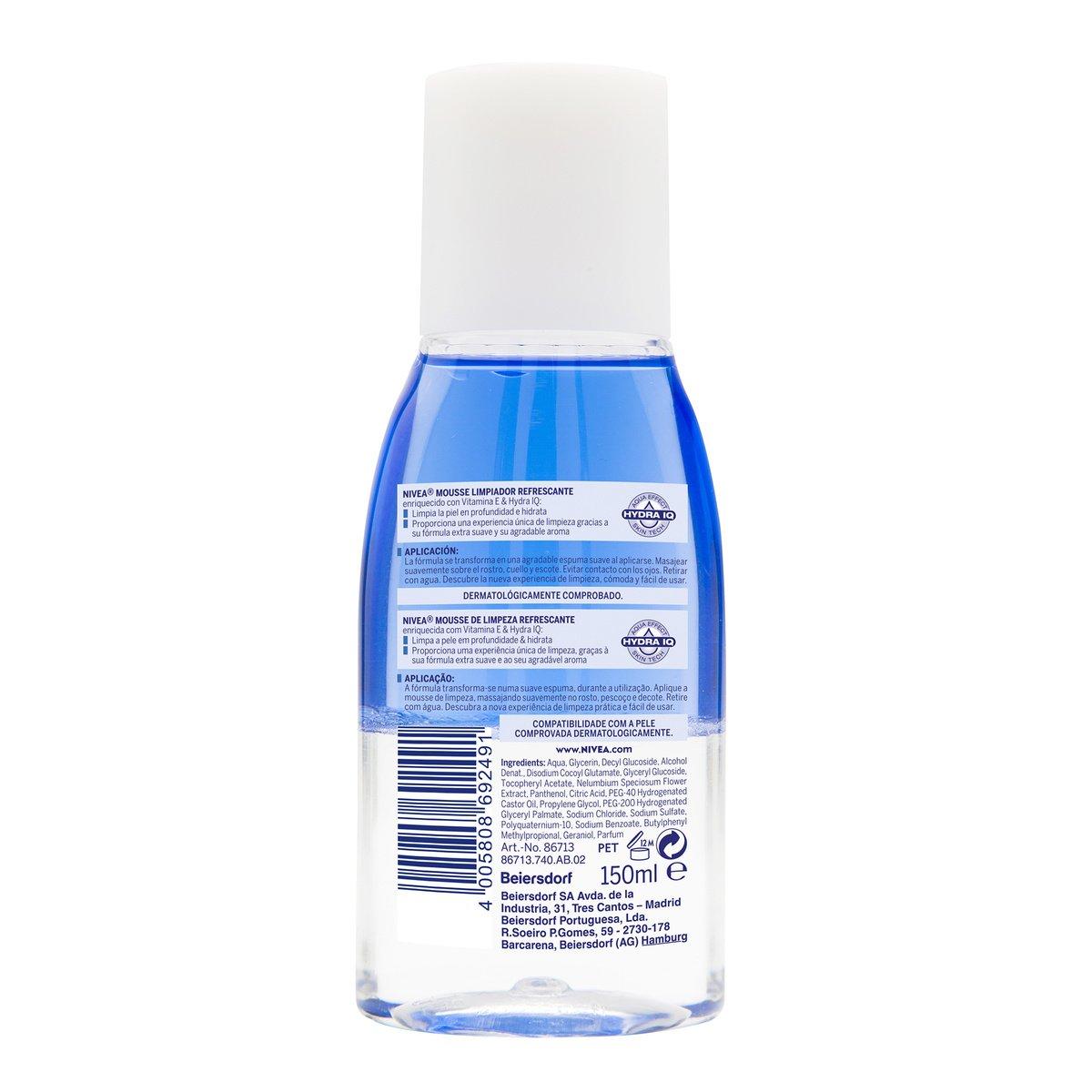 NIVEA Desmaquillador de Ojos Doble Acción, líquido desmaquillante para el contorno de ojos sensible, limpieza facial rápida y suave - 1 x 125 ml: Amazon.es: ...