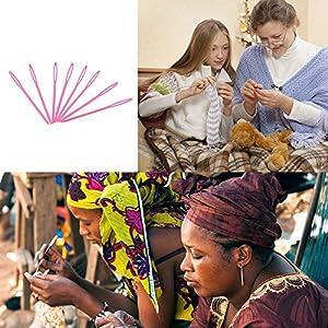 20pcs Plastic Knitting Needles Sewing Tools Needlework Needle Craft