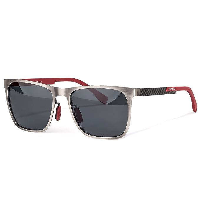 Amazon.com: Gafas de sol cuadradas de conducción, marco de ...
