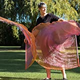 BEAUTIFUL OFFERING Angel Wing Catch the Fire Worship Flags (double layer; pair)