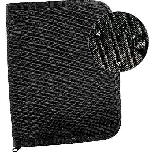Rite in the Rain Weatherproof Cordura Fabric, 1/2' Ring Binder Cover, 6 3/4' x 8 7/8', Black Cover (No. C9200B)