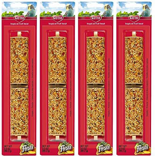 (4 Pack) Kaytee 3.5-Ounce Fiesta Parakeet Tropical Fruit Sticks For Birds