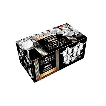 Royalty Line RL-1232 Set bateria de cocina ollas, sartenes de acero inoxidable 12 piezas