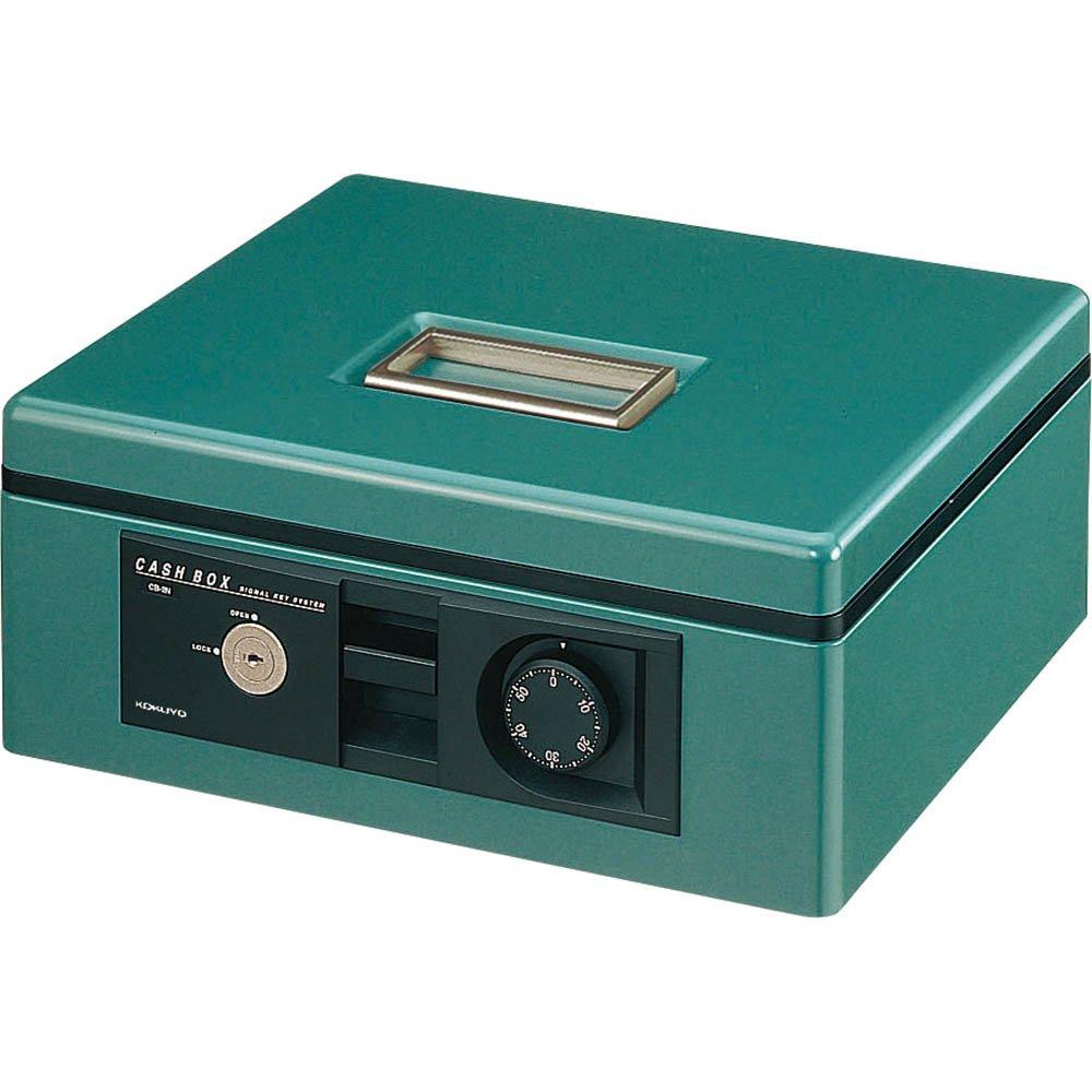 コクヨ 手提げ金庫 ダイヤル鍵ブザー付 B5 緑 CB-B12G B000FILQL4 B5 緑 緑 B5