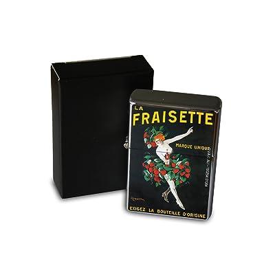 Briquet Chromé Essence Affiche Vin France Rarement Imprimé Cuisine