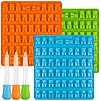 [New] Bear Candy Silicone Molds Ice Cube Trays with 3 Droppers, SENHAI 3 Pack Gumdrop Molds for Jelly Chocolate Soap…