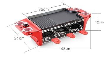 Multifunción horno eléctrico doble para hornear partido interior barbacoa para hornear cuchara 6 acero inoxidable Grill