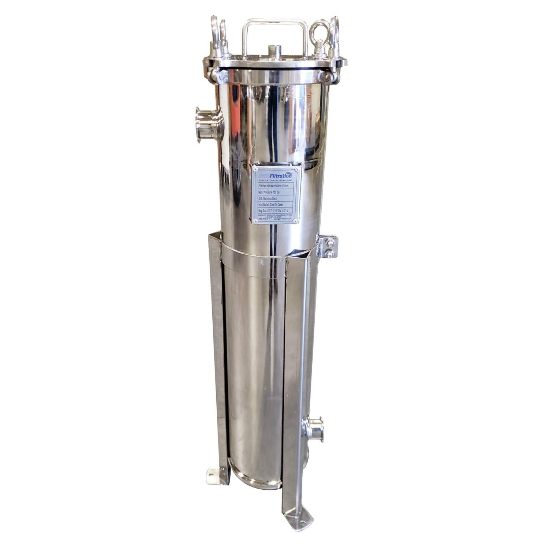 150 psig max. EPDM O-Ring Electropolished Finish 2 Inch Tri-Clamp Inlet//Outlet PRM #2 316L SS Bag Filter Housing