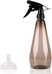 Chiost 20 oz Plastic Spray Bottle for House Garden Plants, Plastic Spray Bottles for Hair, Plants,Personal Care,Refillable Sprayer with Mist and Stream Mode (Brown)