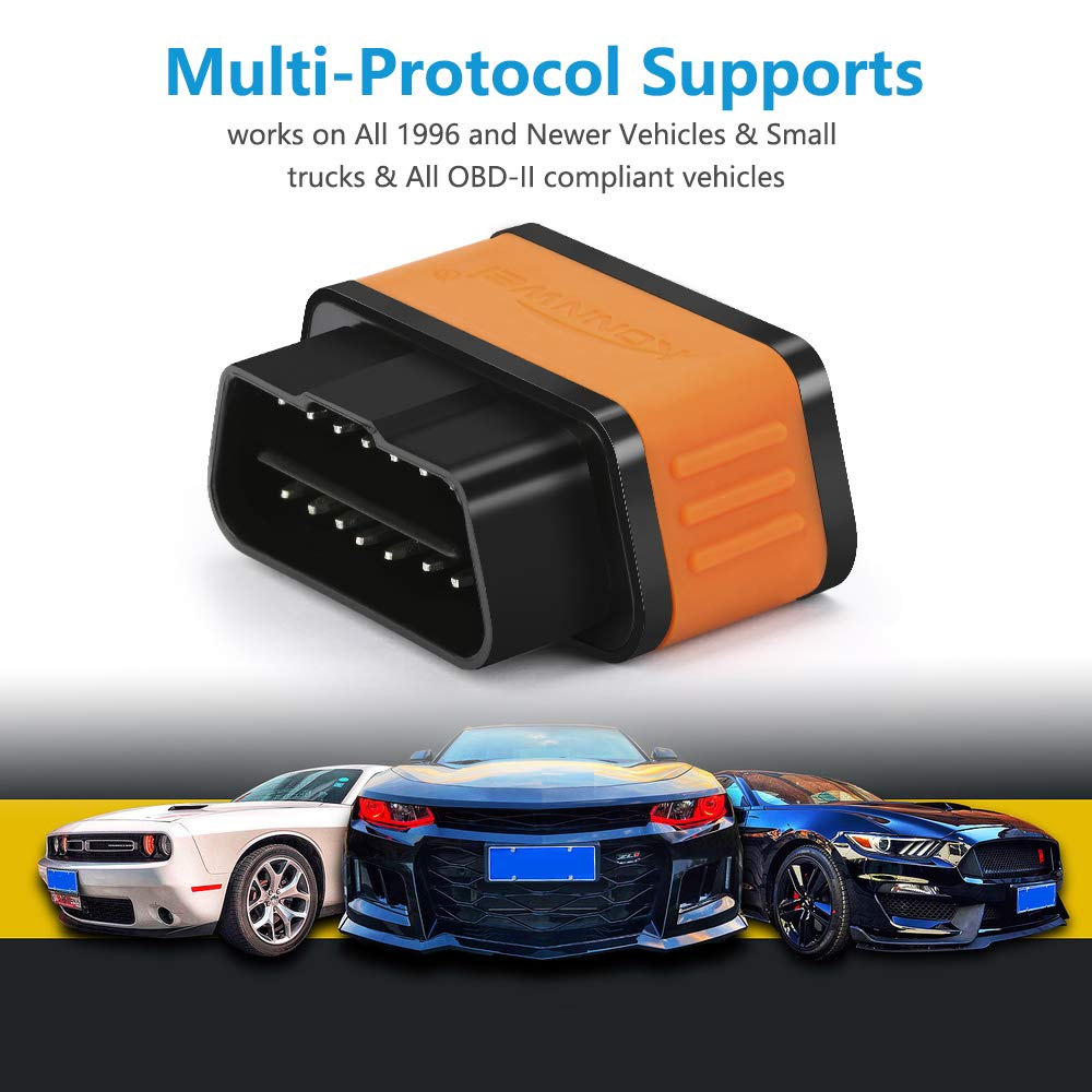 KW903 WiFi OBDII Scanner Jhua OBD2 WiFi Adapter Auto Check Engine Light Diagnostic Tool for Apple iPhone iPod Touch Android Devices iOS PC Black