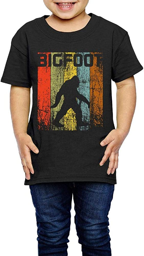 Kcloer24 Children Bigfoot Vintage Organic T-Shirt Summer Clothes for 2-6 Years Old