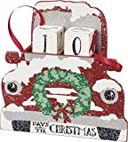 Primitives by Kathy Red Truck With Wreath Advent Calendar 6.5'' x 6.5'' x 1.75''