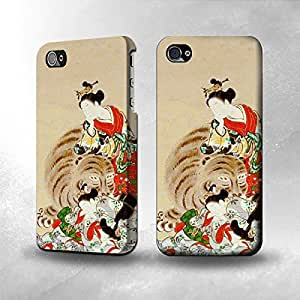 Apple iPhone 4 / 4S Case - The Best 3D Full Wrap iPhone Case - Japan Art Four Sleepers