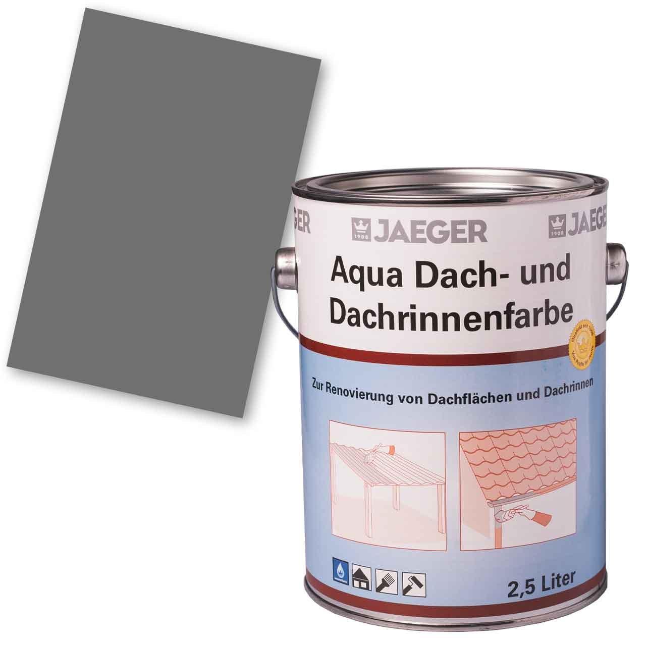 Aqua Dach- und Dachrinnenfarbe, anthrazit, 2,5 l JAEGER