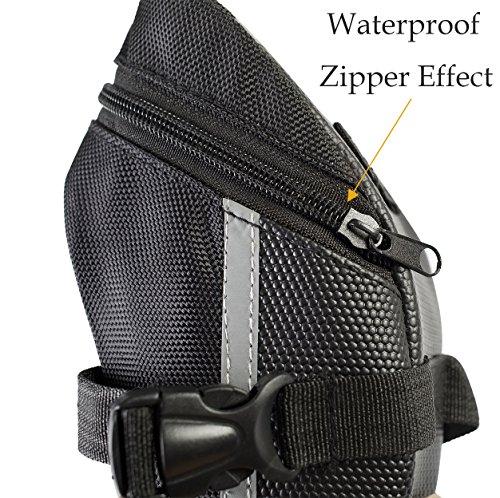 Bike Saddle Bag Waterproof, Bike Seat Bag & Frame Bags Phone Mount Holder Cellphone Below 5.5 Inch with Touch Screen, Bicycle Pack Cycling Seat Bag Bike Handlebar Toolkit Bag