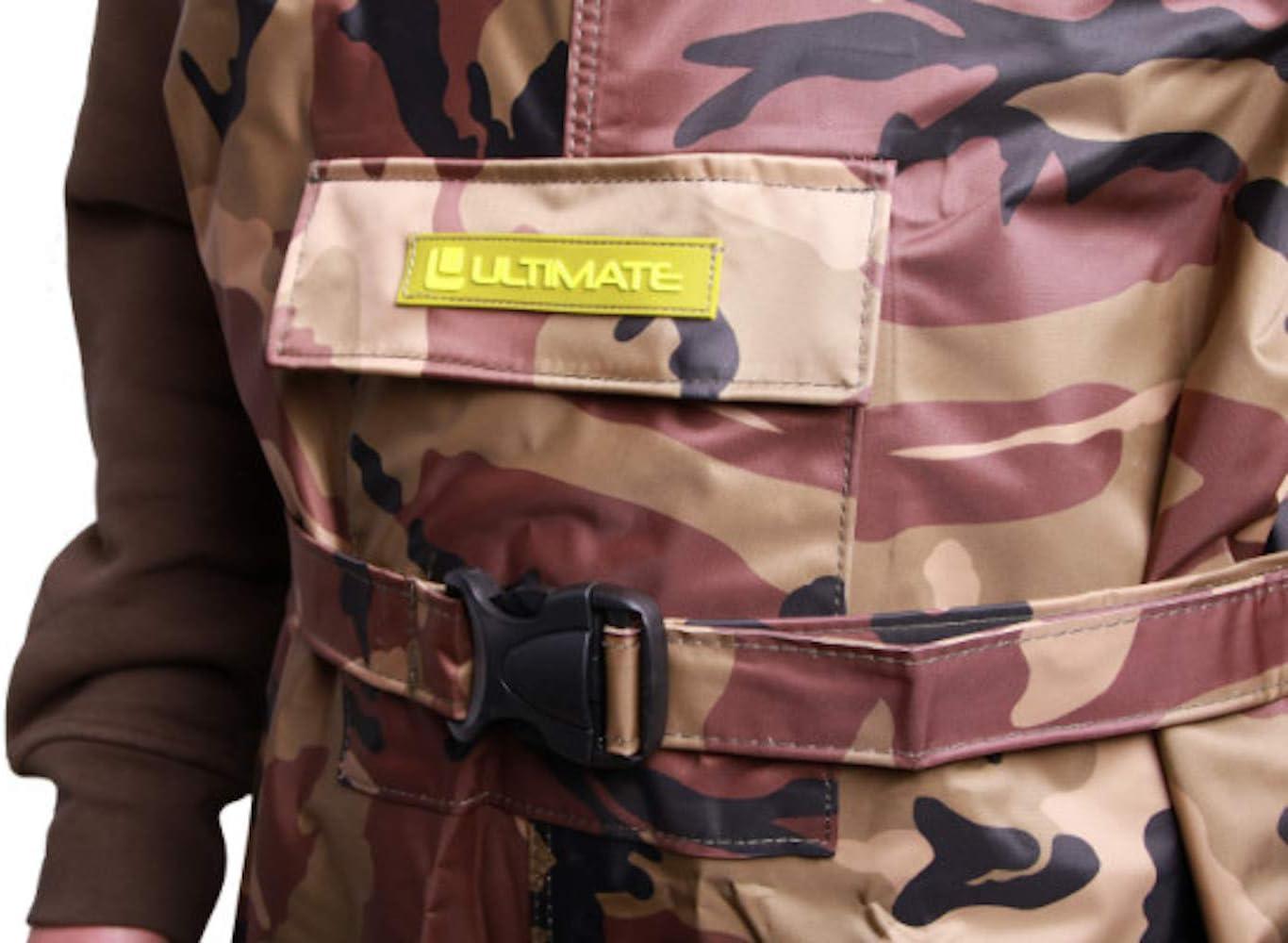 Hochwasserhose Fischerhose wasserdichte Nylon Wathose mit PVC Stiefeln Anglerhose Camouflage Print Wathose Teichhose Ultimate Camo Wathose Verschiedene Gr/ö/ßen