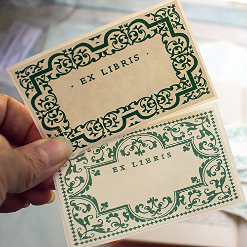 Ivy Frames Bookplate Stickers gift for bookworms book labels set of 20