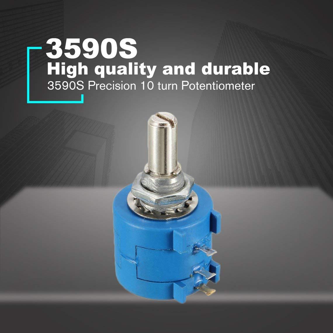 Resistencias variables Reóstatos 3590S Precision Multiturn Potenciómetro 10 anillos resistor ajustable enrollado