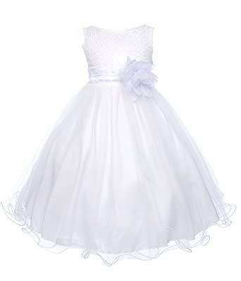6788dd208cc Kids Dream Little Gold Sequin Double Mesh Flower Girl Dress  Amazon.co.uk   Clothing