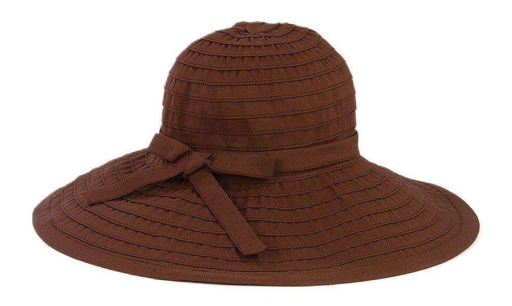 San Diego Hat Company Women's Large Brim Hat O/S, Chocolate, One Size