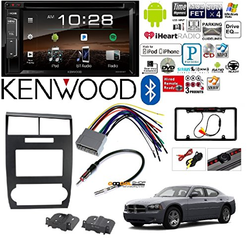 Scosche CR1295DDB Double DIN Dash Kit for 2005-2007 Dodge Magnum/Charger Combo Kenwood DDX25BT 6.2'' 2-Din In-Dash DVD Monitor Bluetooth Receiver Sirius/MP3/WMA by Cache, Kenwood, Metra, Scosche