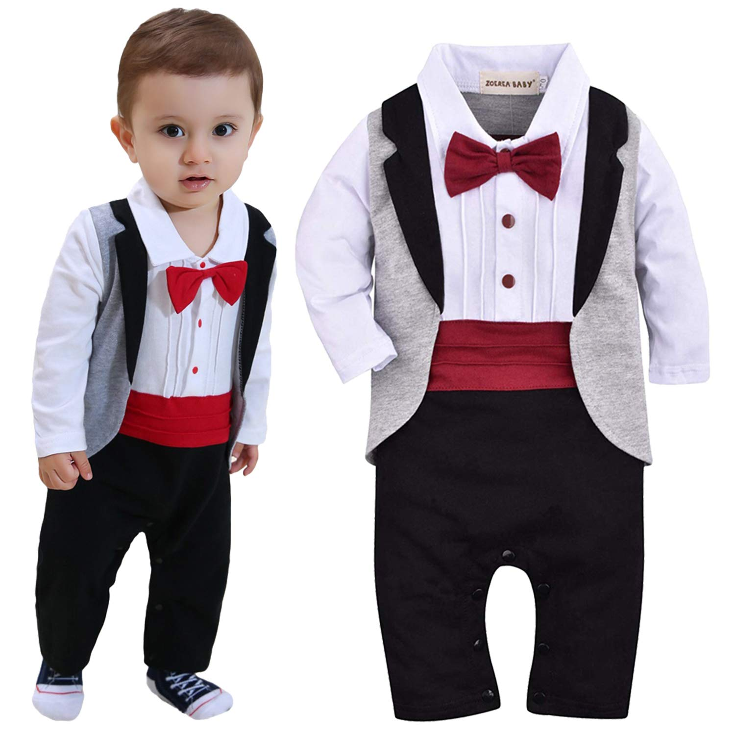 Fairy Baby Little Boys 3PCS Clothes Gentleman Outfit Formal Tuxedo Suit Pant Set