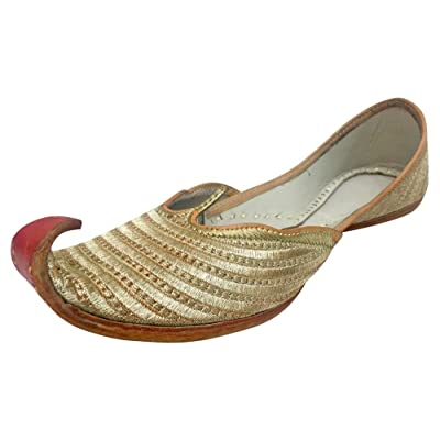 Step n Style Indian Shoes Punjabi Jutti Bridal Shoes Khussa Shoes Mojari Saree Juti | Loafers & Slip-Ons [3Bkhe0300256]