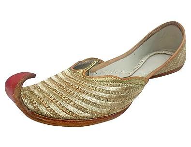 acbfe43418aa Step n Style Indian Shoes Punjabi Jutti Bridal Shoes Khussa Shoes Mojari  Saree Juti Gold