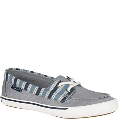 Sperry Top-Sider Lounge Away Stripe Sneaker Women 9.5 Grey/Blue | Loafers & Slip-Ons