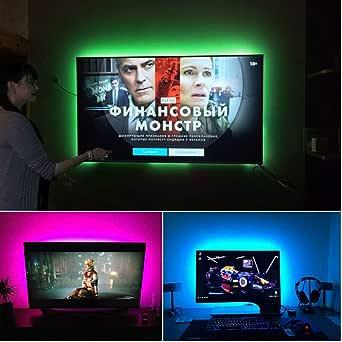 MALITAI Tira LED TV 2M, 2835SMD con Control Remoto, 24 botones RGB 4 Modos, Retroiluminación LED TV para Cine en Casa, HDTV/PC Monitor (40-60 Pulgadas)[Clase de eficiencia energética A++]: Amazon.es: Iluminación
