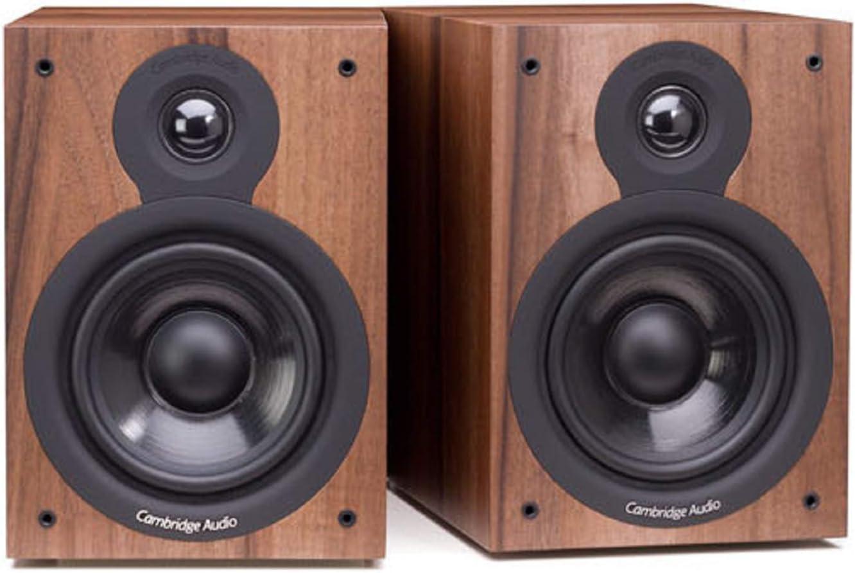 Cambridge Audio SX-50 - Altavoces (Nuez, Mesa/Estante, Universal, Alámbrico, 50-22000 Hz, De 2 vías)