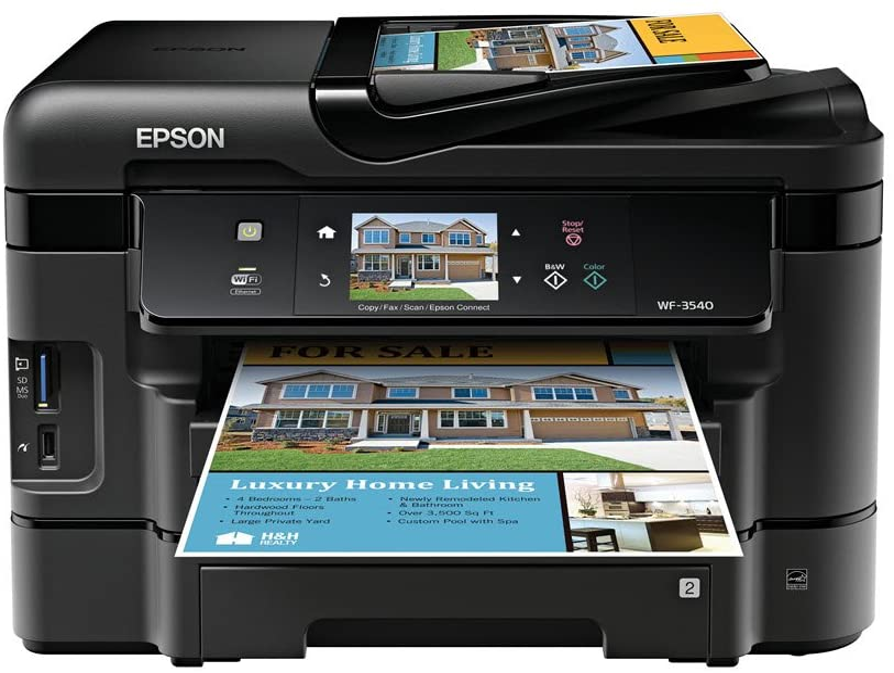 Amazon.com: Epson WorkForce WF-3540 Wireless All-in-One ...