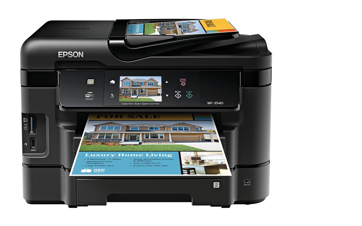 Amazoncom Epson WorkForce WF3540 Wireless AllinOne Color Inkjet