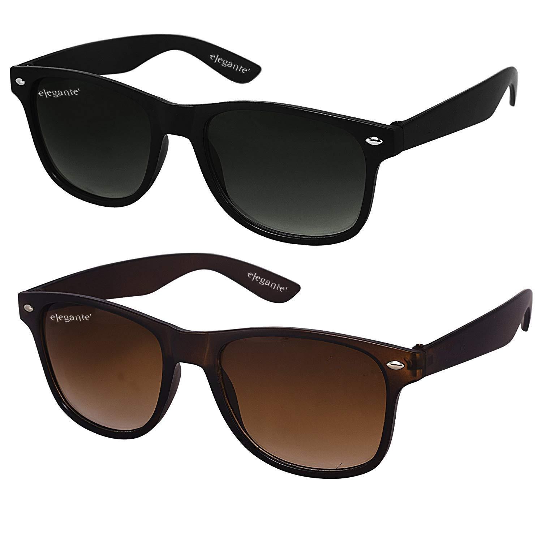 09279f306212 ELEGANTE Combo of 2 Wayfarer Men s Sunglasses (WYFBLKBRNCMB