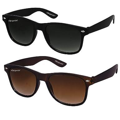 e77bcf96fc068 ELEGANTE Combo of 2 Wayfarer Men s Sunglasses (WYFBLKBRNCMB