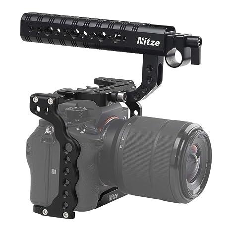 Nitze SHT03B A7III/A7RIII - Jaula para cámara Sony con asa ...