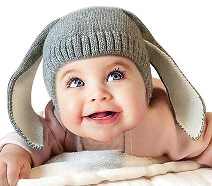 MissSoul Süßes Baby Strickmütze Lustiges Häschen-Muster Hase Kostüm ...