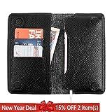 Best Cash Compartments For IPhones - Genuine Leather Wallets for Men Women, G-CASE [Elegant] Review