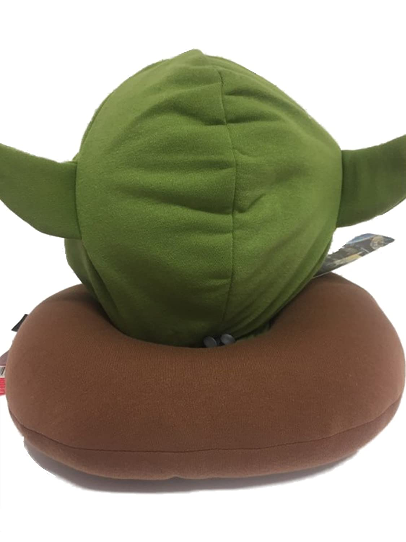 Genuine Disney Star Wars Yoda Hooded Neck Pillow - Hood with Ears