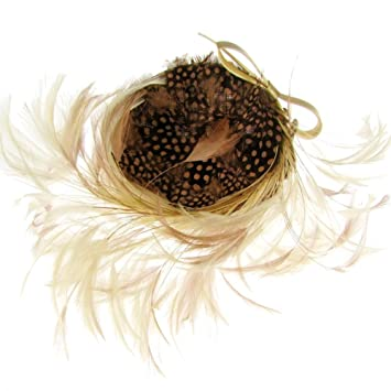 Marie-Anne Feather   Bow Fascinator Headband Natural Bronze (b159nat)   Amazon.co.uk  Health   Personal Care 525ce2f93ec