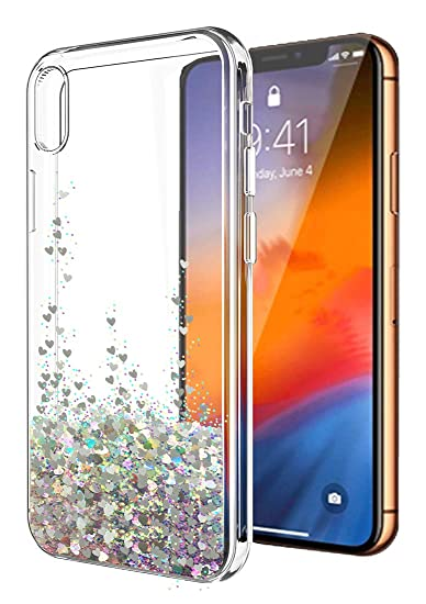 info for 0d79b 6d610 iPhone XS Max Case,iPhone XS Max Glitter Case for Women Girls,SunStory  Moving Shiny Quicksand Glitter and Double Protection with PC Layer and TPU  ...