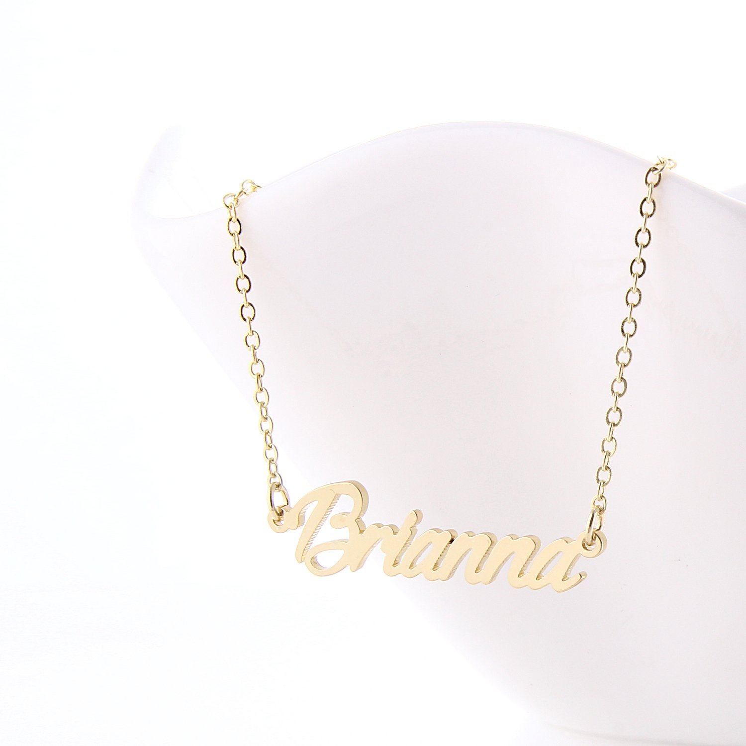 personalized de di rose lowercase initial cursive letter necklace media b gold