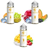 White King, White Knight, White Queen - Dampflion Checkmate Aroma 3x10ml + 5 ml Fresh Mint Aroma