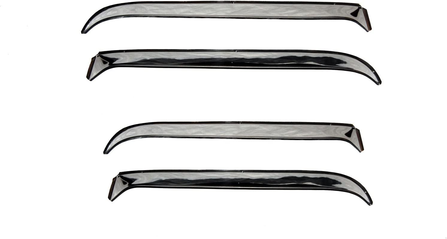 Consult application guide to verify fitment 2-Piece Set for most 1973-1991 GM Full Size Trucks and SUVs Auto Ventshade 12059 Ventshade with Stainless Steel Finish