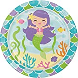 Creative Converting Mermaid Friends Sturdy Style Paper Dessert Plates (8 Count), 7