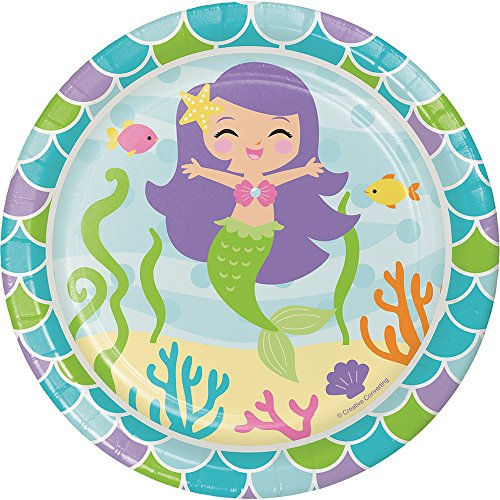 Creative Converting Mermaid Friends Sturdy Style Paper Dessert